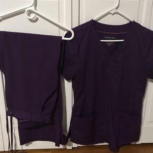 Purple label scrub set